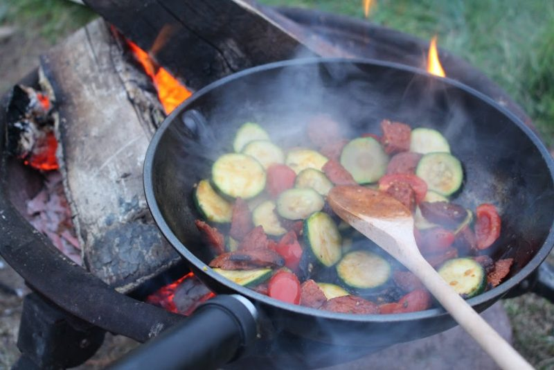 Quick and simple camper van meal