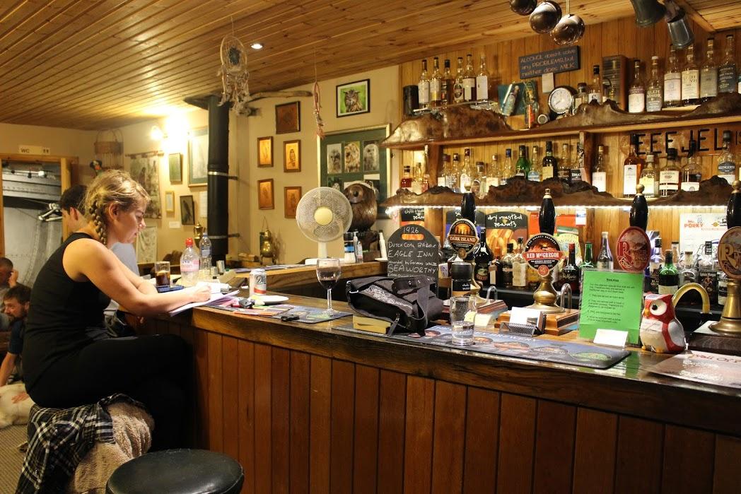 Inside the Eagle Barge Inn