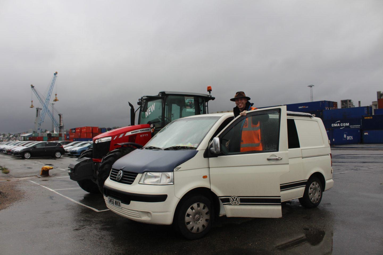 Collecting my camper van in Norway
