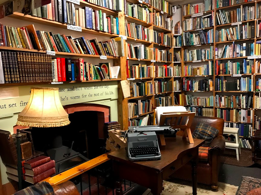 Inside the famous Book Shop in Wigtown