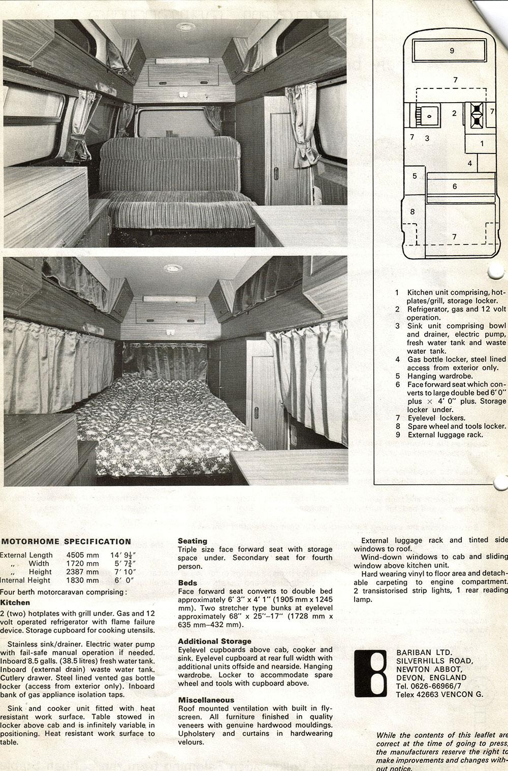 Volkswagen Palomino Advert showing the interior