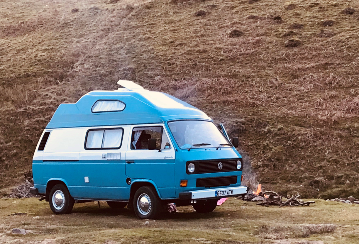 George my exceptionally spacious VW T25 high top camper