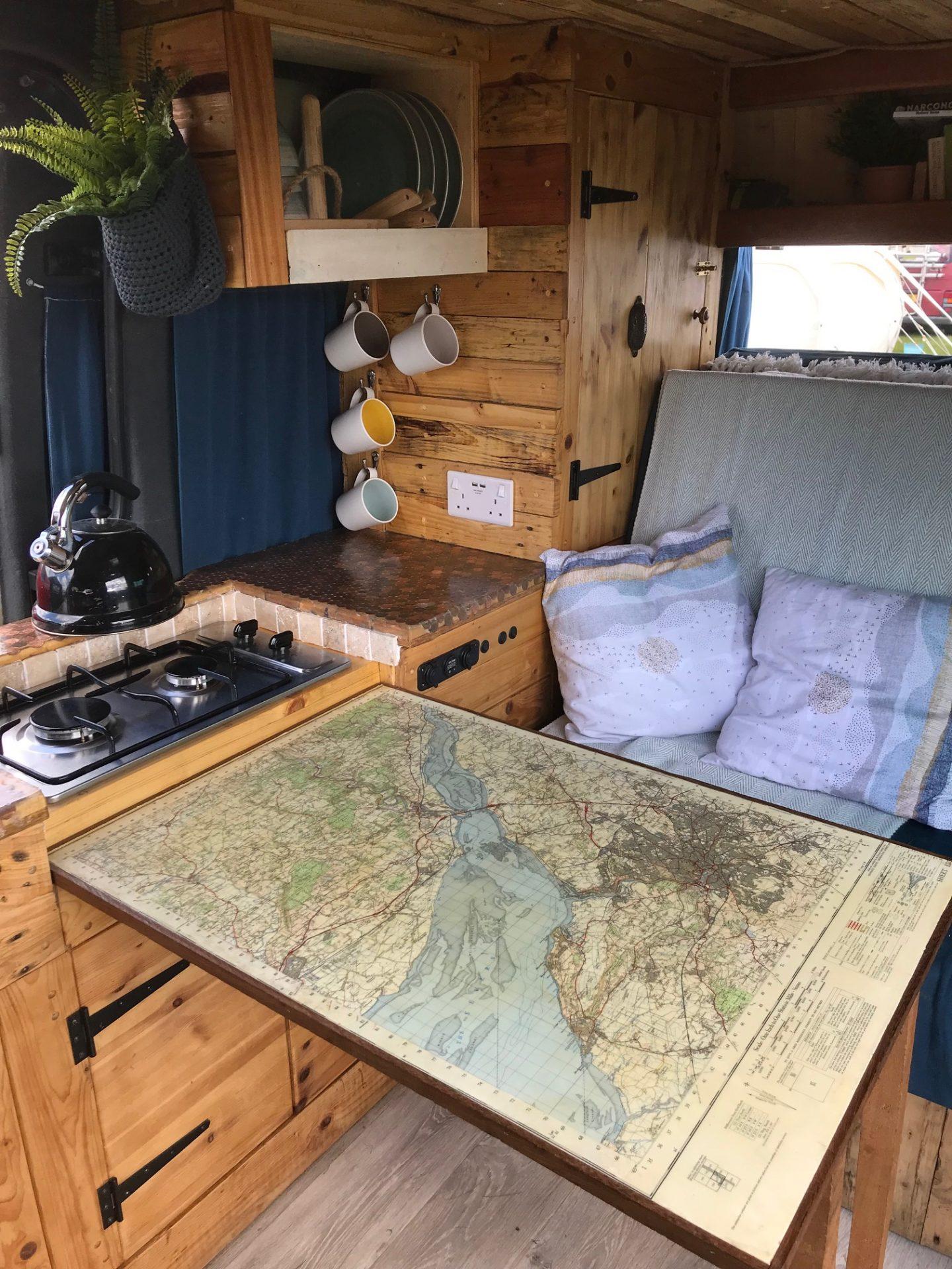 Quirky Camper Van Interior