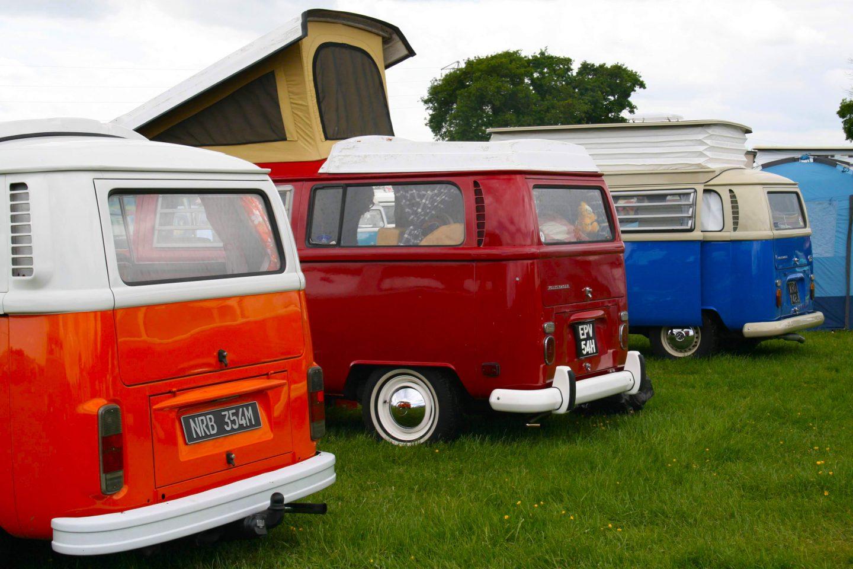 Campervans for sale at festivals
