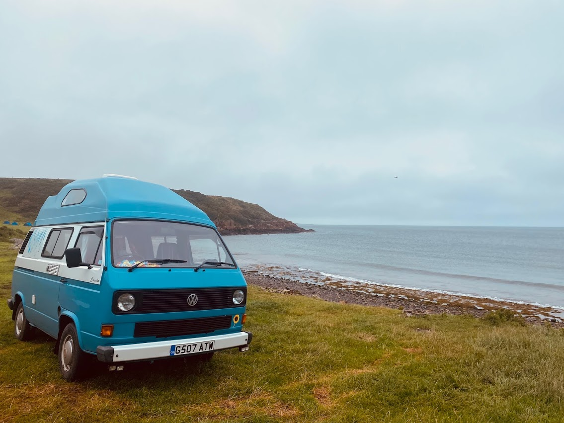 Camping beach near the Mull of Galloway