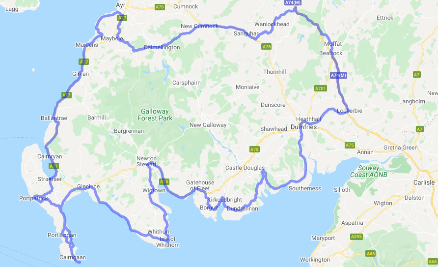 South West Coastal 300 Map